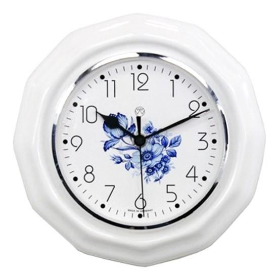 Funk-Küchenuhr Dekor/blaue Blume