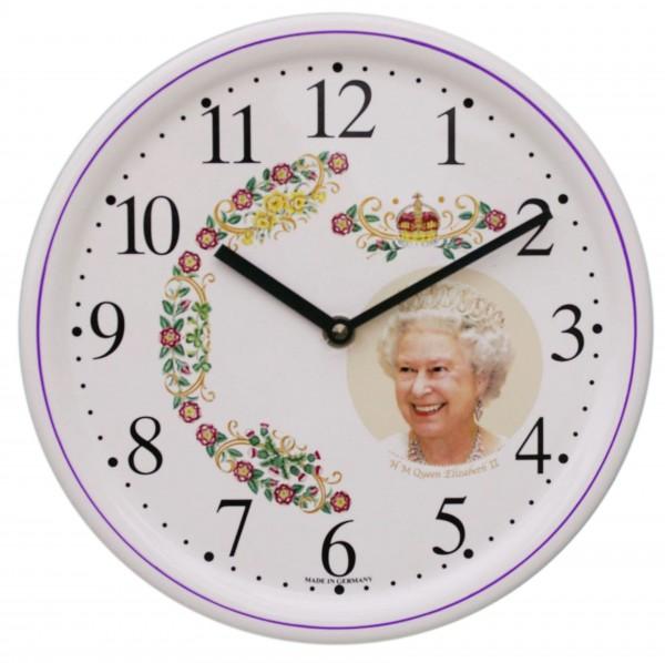Keramik-Uhr  /  Queen Elisabeth
