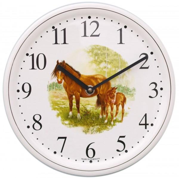 Keramik-Uhr / Pferd stehend