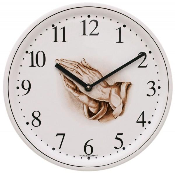 Keramik-Uhr / beten