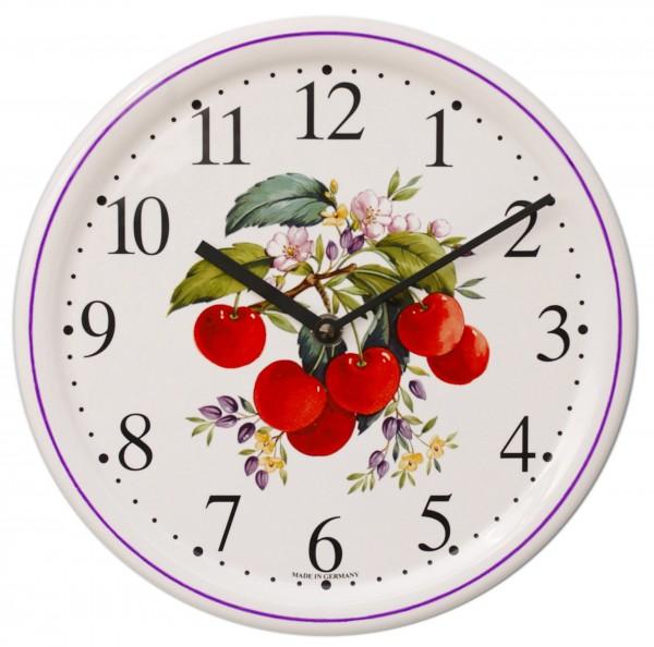 Keramik-Uhr / Kirschen