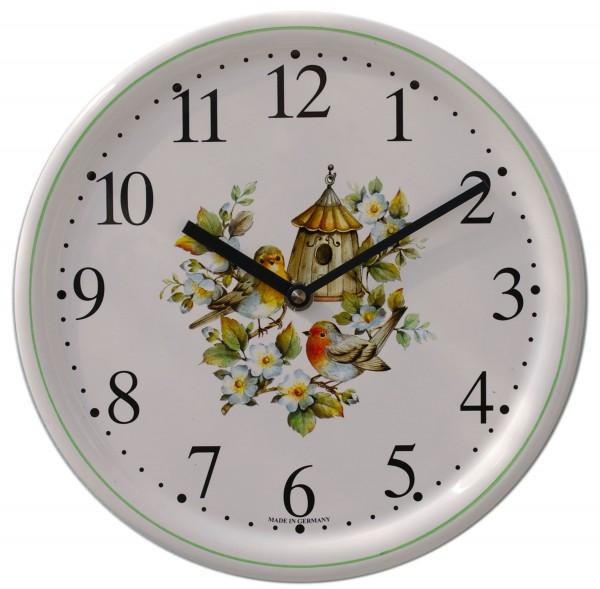 Keramik-Uhr / Vogelhäuschen