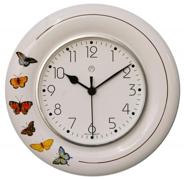 Funk-Küchenuhr Dekor / Schmetterlinge