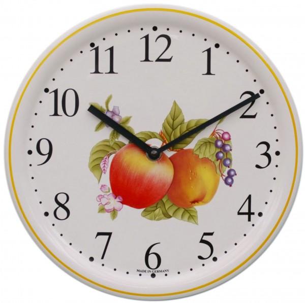 Keramik-Uhr / Äpfel