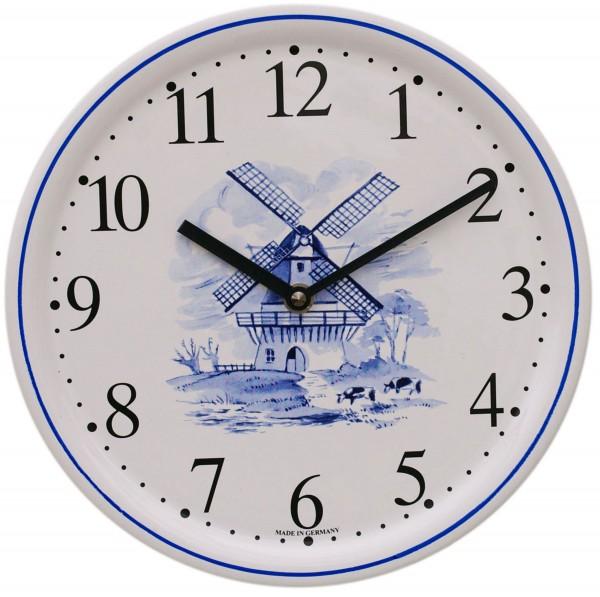 Keramik-Uhr / Windmühle