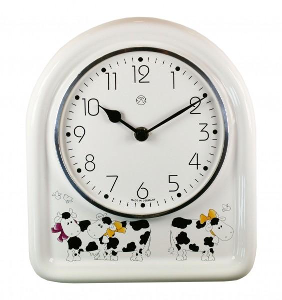 Quarz-Küchenuhr / hungrige Kühe