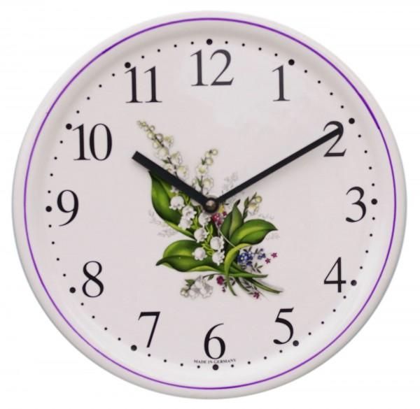 Keramik-Uhr  /  Maiglöckchen