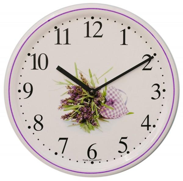 Keramik-Uhr / Blumenstrauß