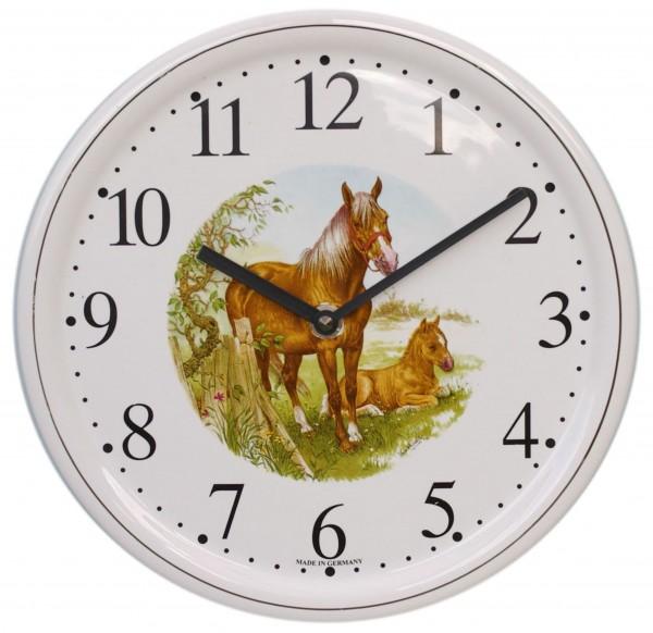 Keramik-Uhr / Pferd