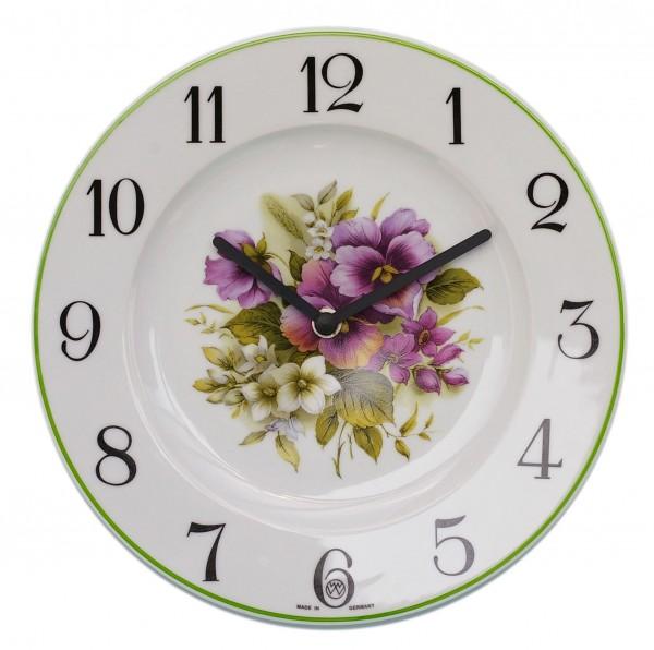 Telleruhr Dekor/Blumenstrauß