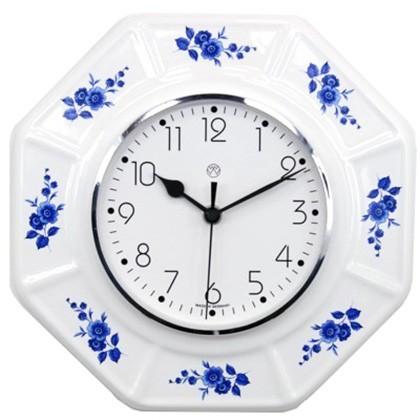 Funk-Küchenuhr / blaue Blume
