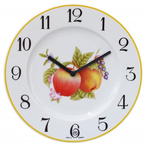 Telleruhr-Porzellan Dekor / Äpfel