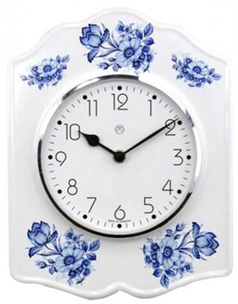 Quarz-Küchenuhr / blaue Blüten