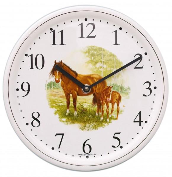 Keramik-Küchenuhr / Pferd stehend