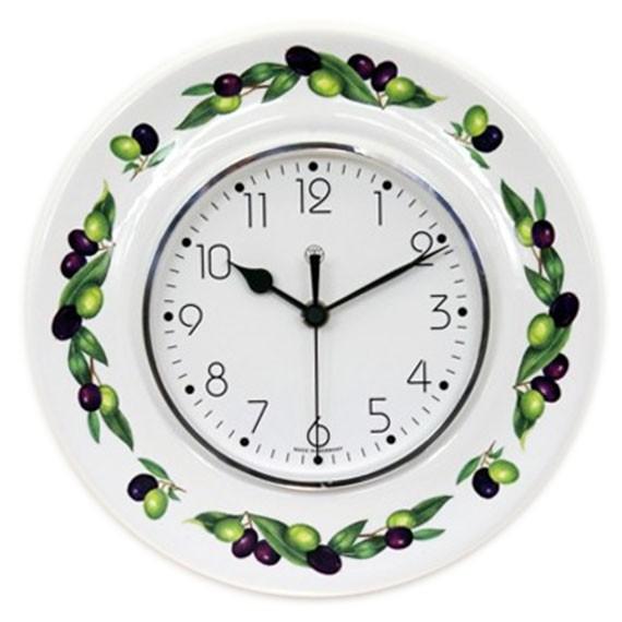 Funk-Küchenuhr / schwarz-grüne Oliven