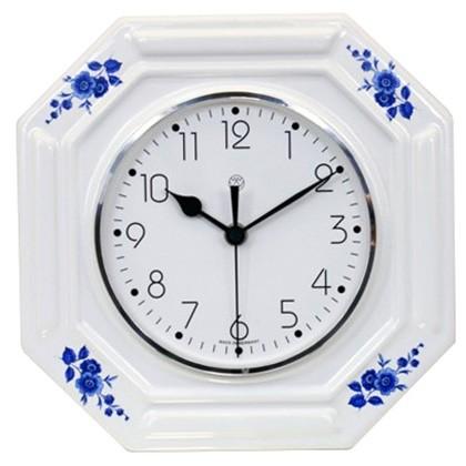 Funk-Küchenuhr - blaue Blume
