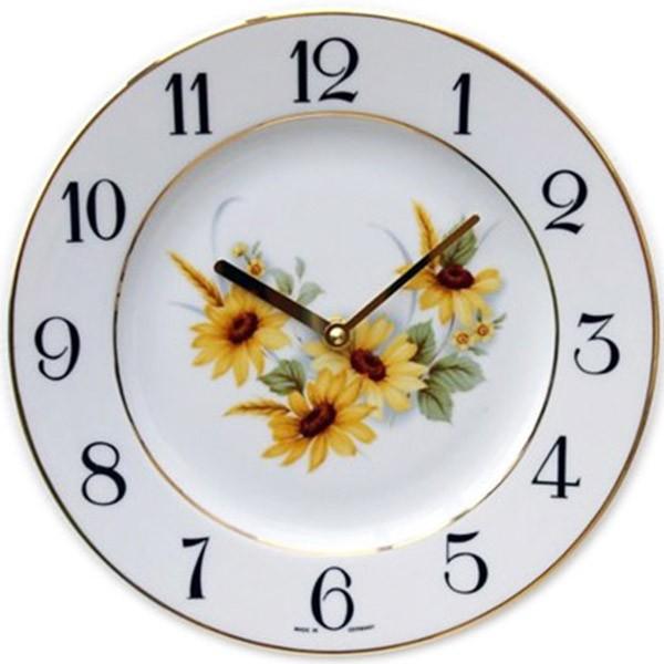 Telleruhr-Porzellan / Sonnenblume