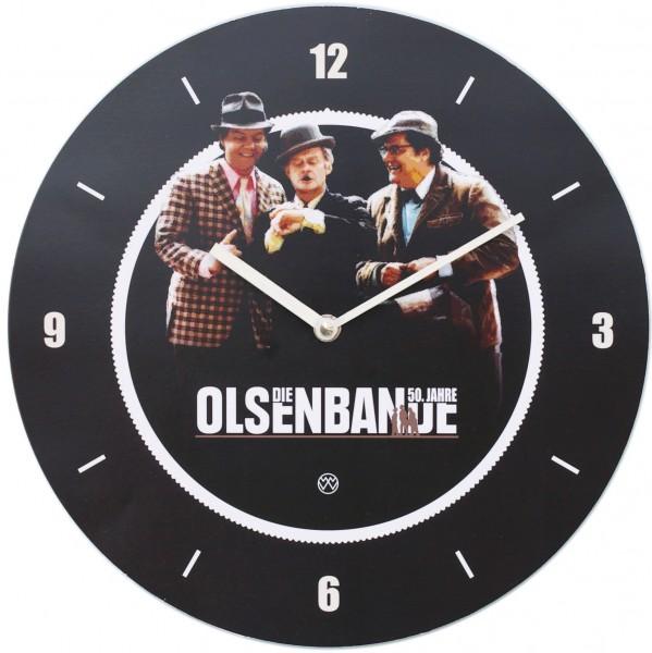 Wanduhr Olsenbande - Rund mit Quarzwerk
