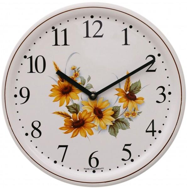 Keramik-Uhr / Sonnenblume
