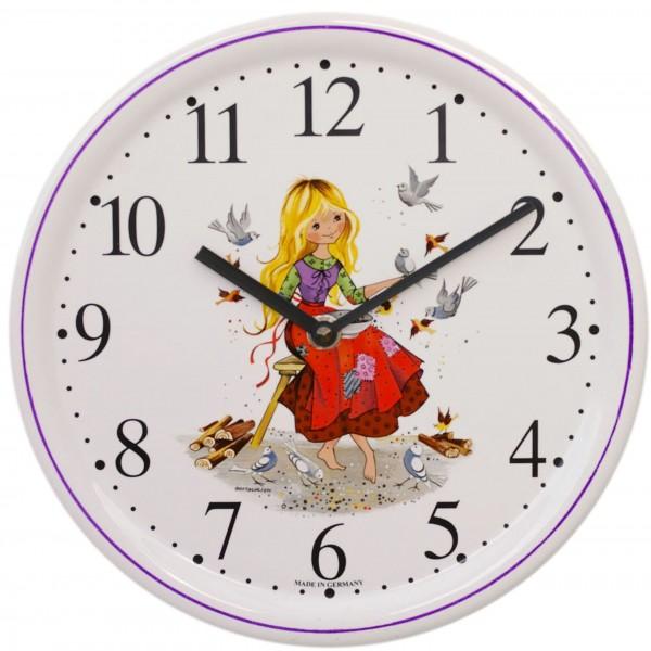 Kinderzimmer-Uhr Dekor / Aschenputtel