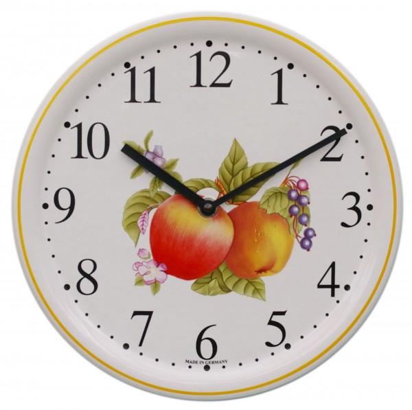 Keramik-Küchenuhr  / Äpfel