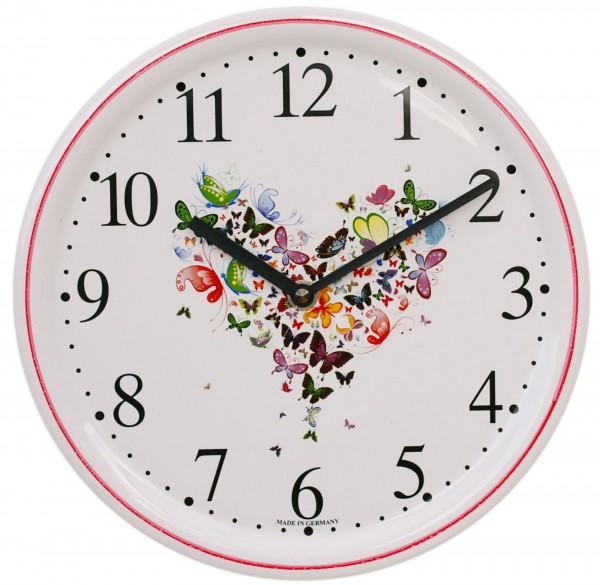 Keramik-Uhr / Schmetterlinge