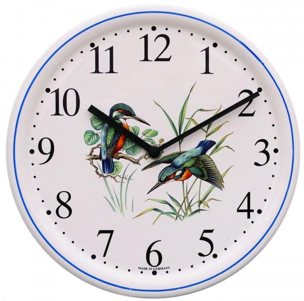Keramik-Uhr  /  Eisvogel