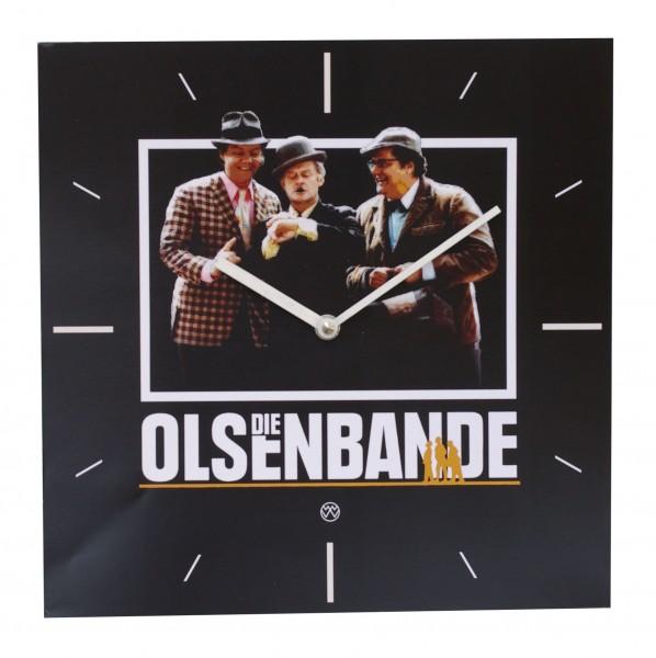 Lizenz - Wanduhr Olsenbande - Eckig mit Quarzwerk