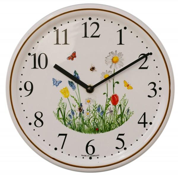 Keramik-Uhr / Frühling