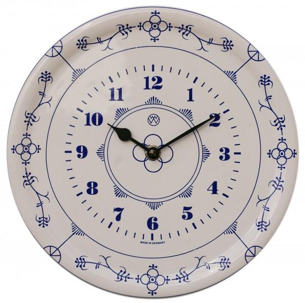 Keramik-Uhr / Strohmuster