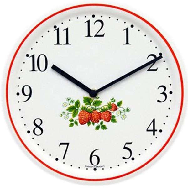 Keramik-Küchenuhr / Erdbeeren