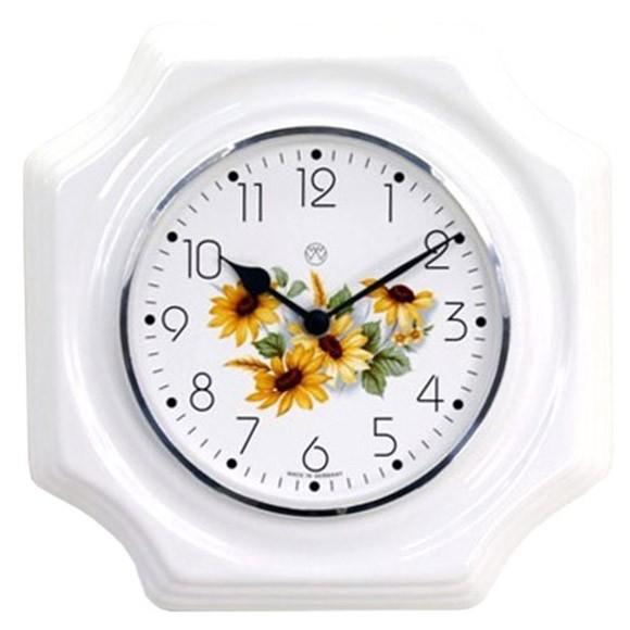 Quarz-Küchenuhr / Sonnenblumen