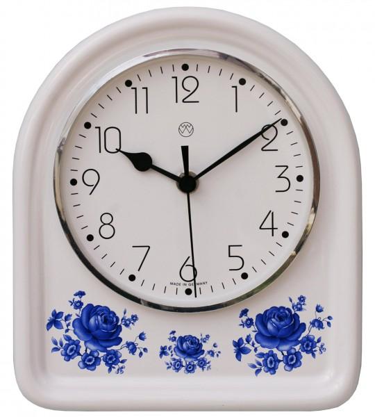 Funk-Küchenuhr Dekor / blaue Blume
