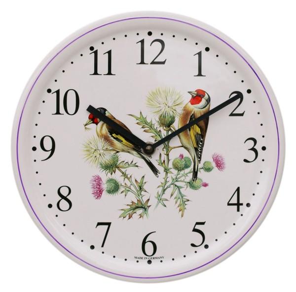 Keramik-Uhr  /  Vögel