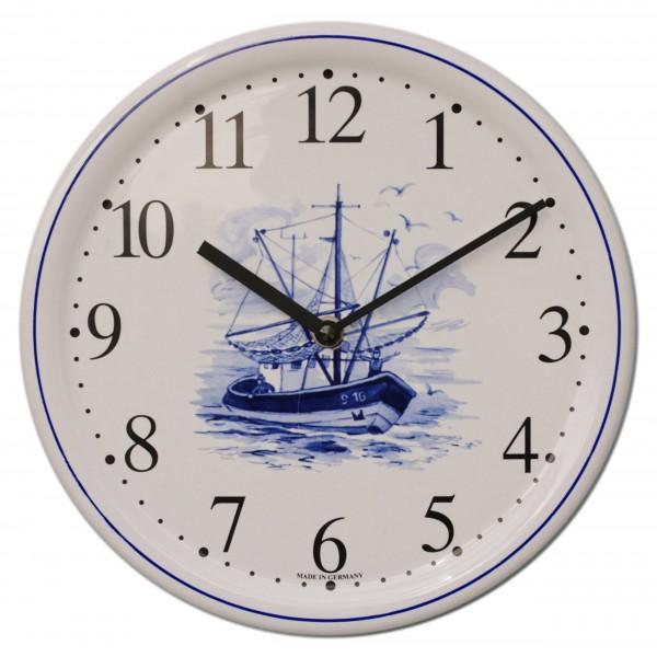 Keramik-Uhr / Fischkutter